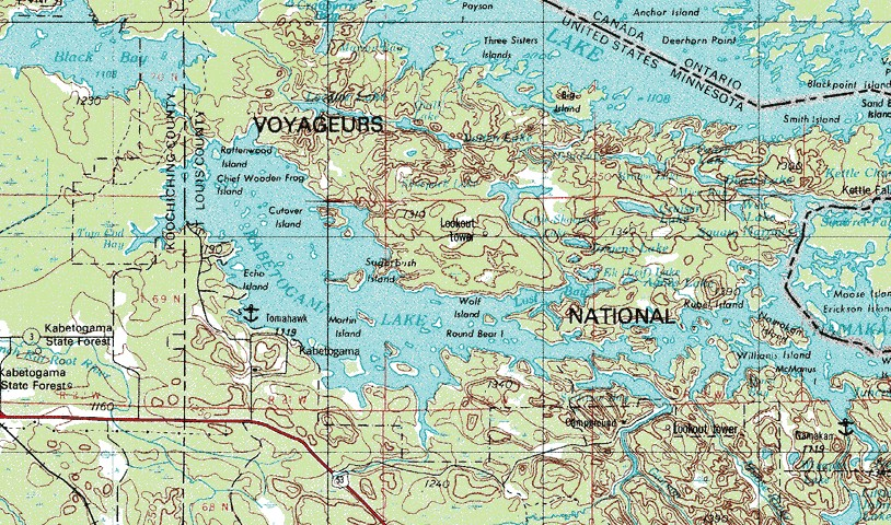 Map northern minnesota commercial homes for sale for Lake kabetogama fishing